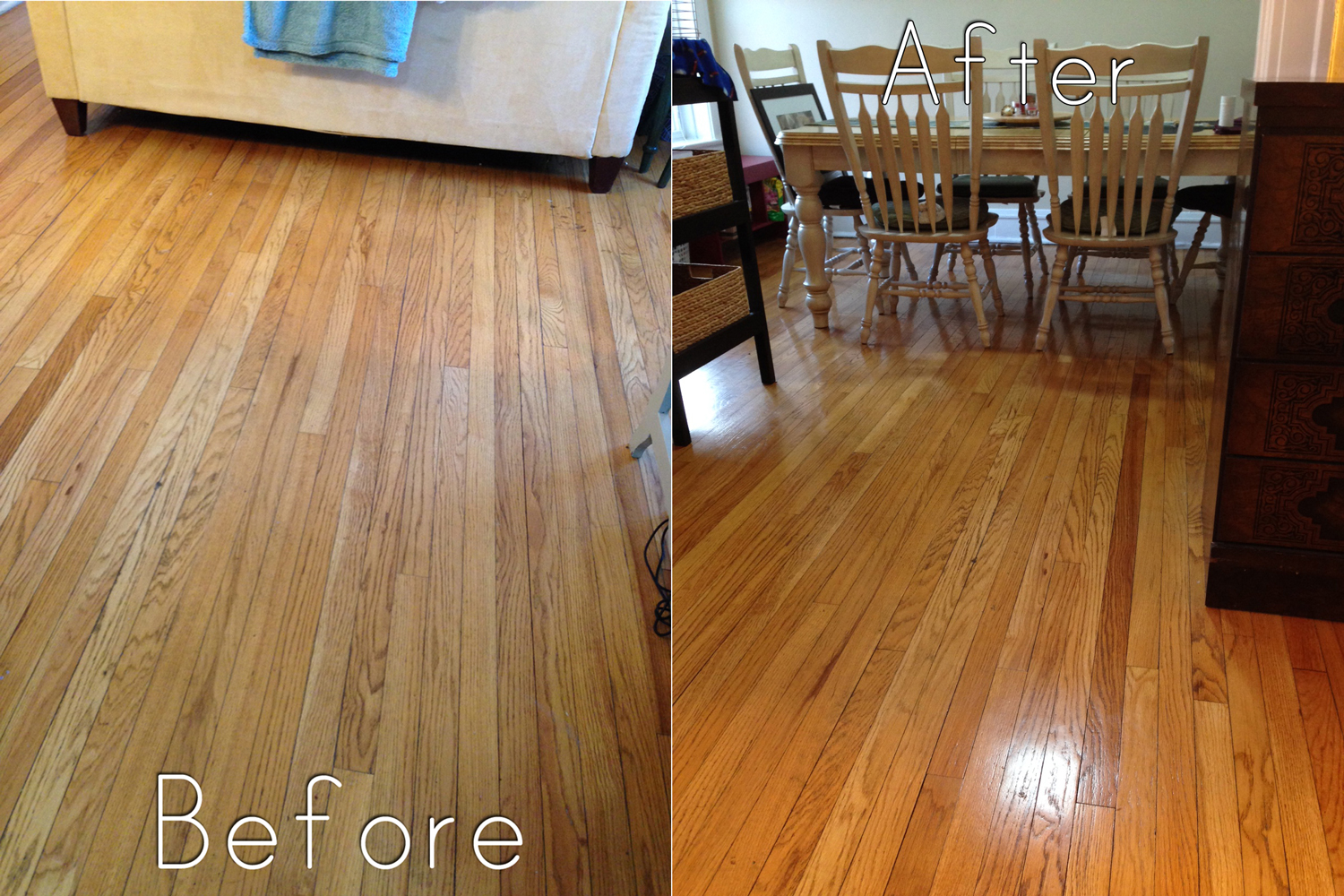 natural hardwood floor cleaner recipe before and after