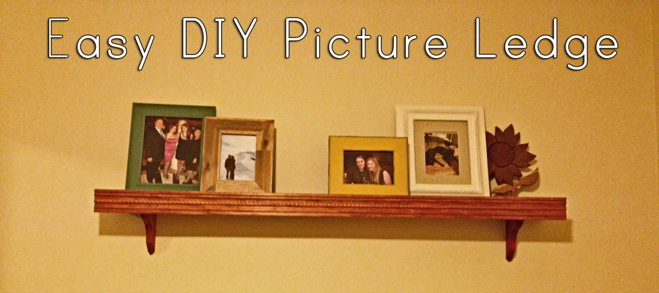 Our first attempt at a DIY Project: Easy picture ledge/ display shelves
