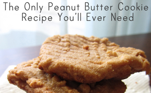 The best, simplest, most delicious peanut butter cookies there ever were. That also happen to be gluten free.