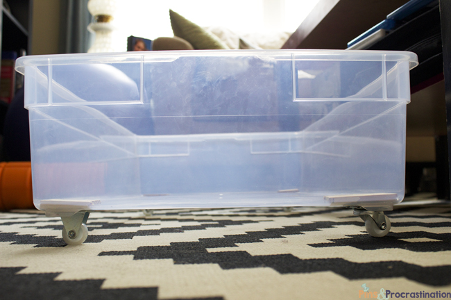 Under Bed Storage Diy Plastic Underbed Drawers Pins And