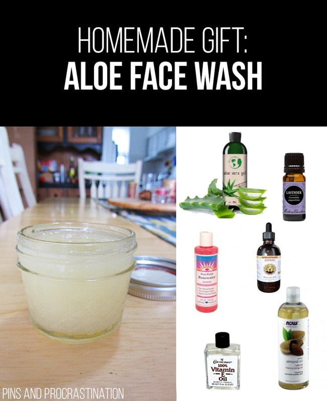 Picking out gifts can be so difficult. That's why I love homemade gifts- they're easy to customize and they feel so personal, and they save you money! So it's really a win-win. This list of homemade gift ideas is perfect! This homemade aloe vera face wash is a perfect gift.