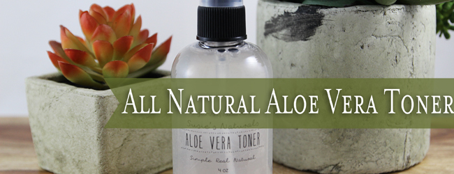All Natural Aloe Vera Toner (Only 2 Ingredients!)