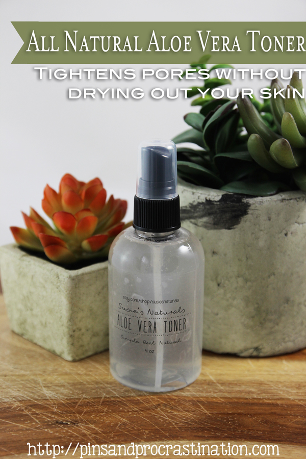 Toner may not feel like an important step in your skincare routine, but it really makes a difference! I love aloe vera more than anything, and it really evens out this aloe vera toner so that it not only makes your pores smaller but also keeps your skin moisturized. This DIY toner is so easy and wonderful, you'll wonder why you aren't already using a natural toner!