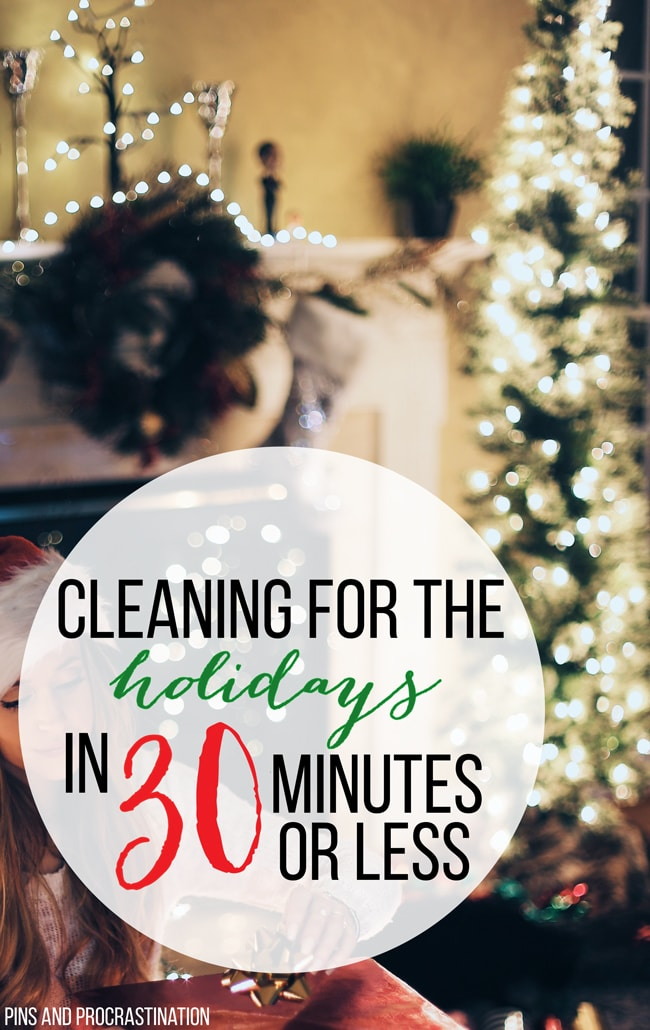 These 7 steps will help you fake a clean home for the holidays, or year round. Quick cleaning getsyour home guest ready in less than 30 minutes. I can't believe how well this method works!