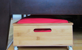 Under bed storage: DIY underbed drawers