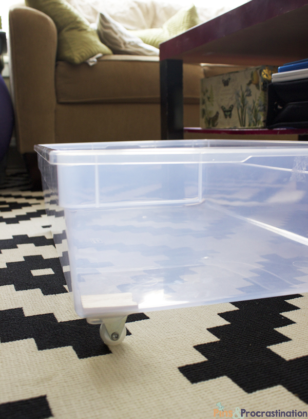 Under Bed Storage: DIY Plastic Underbed Drawers