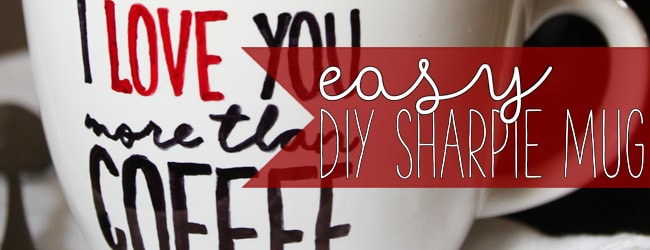 Cute and Easy DIY Sharpie Mug