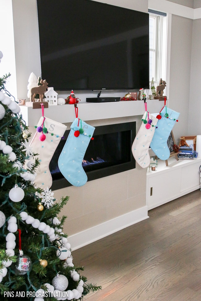 If you're looking for a fun easy way to make DIY personalized stockings, this tutorial is perfect! It's super adaptable, so you can really express your personal style. You can use any font or design you want to personalize your stockings, that way you can know exactly who each Christmas stocking belongs to. And if you have a lot of ideas, you can create them all. I absolutely love the results, and can't get enough of our super cute stockings! This is a really great Cricut project that will last you for years to come.