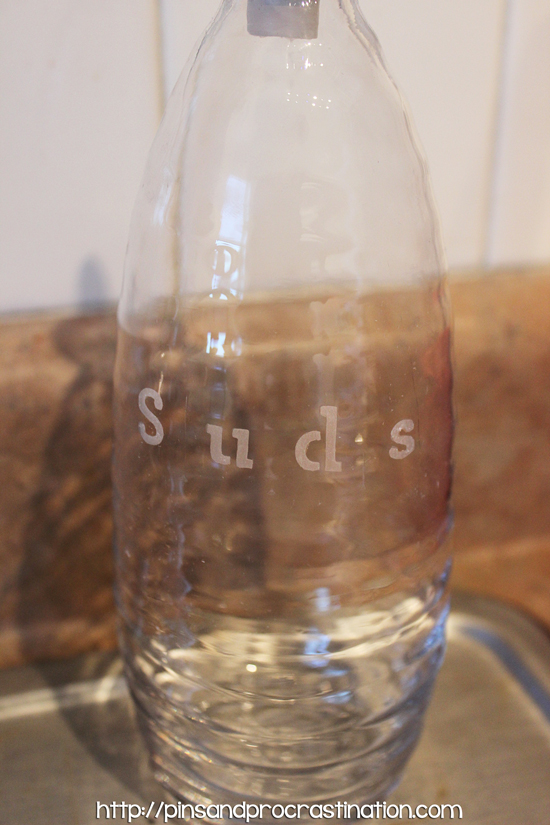 How to Make an Etched Dish Soap Dispenser