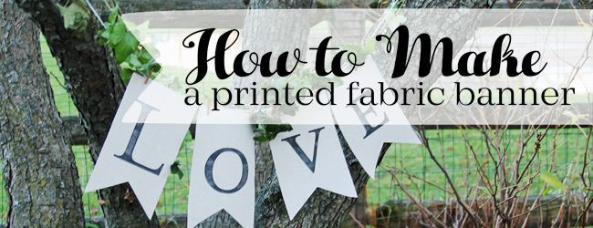 DIY Pennant Banner Printed on Fabric