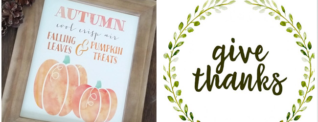 Decorating for fall: 25 Free fall printables