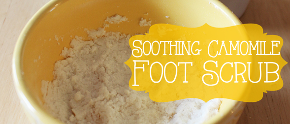 Soothing Chamomile Foot Scrub