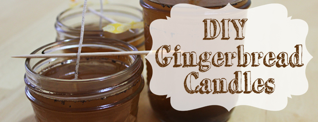 DIY Gingerbread Candles