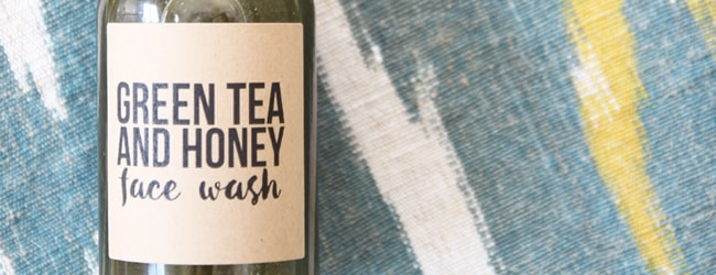 Homemade Anti-Inflammatory Green Tea Honey Face Wash