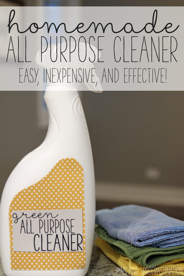 All purpose cleaners are a staple- they're such an important cleaner to have around the house. But they can be so expensive, not to mention toxic! This homemade all purpose cleaner only costs 50 cents to make and is all natural.