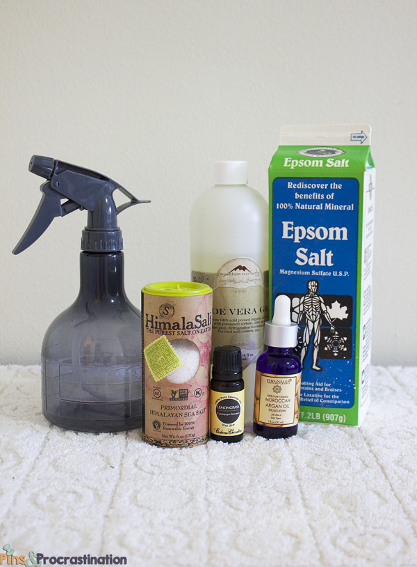 How to Make Homemade Beach Salt Hair Spray