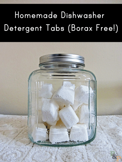 Dishwasher detergent tabs