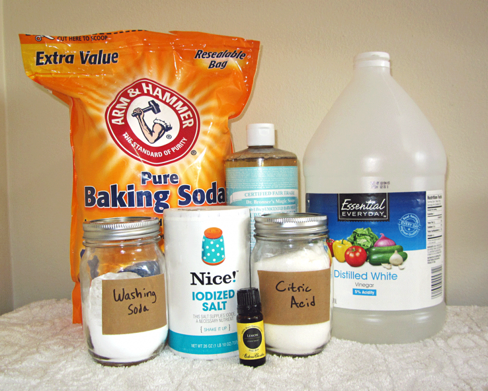 homemade dishwasher detergent tabs (borax free) ingredients