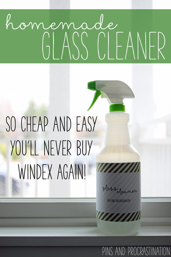 There's nothing I love more than a clean, clear, window. Natural light really transforms a space. But dirty, smudgy windows and glass can really make a room look sloppy! Even if you do clean them regularly, it's hard to find a good smudge-free glass cleaner. Well, I've found it, and it's green, easy, and costs less than $2 to make.