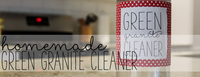 Green Homemade Granite Cleaner