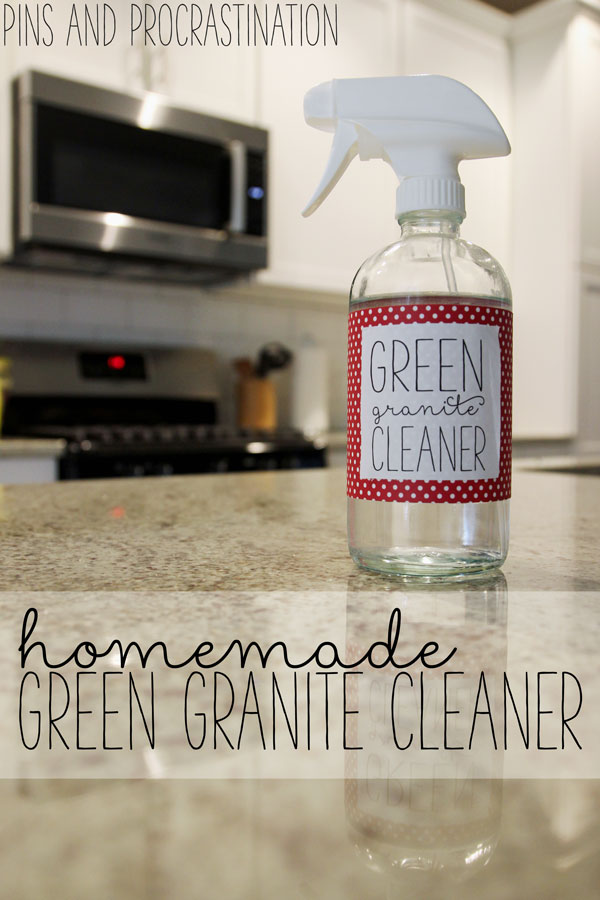 I love my granite countertops SO MUCH- and I want to take great care of them so they can last as long as possible. I've found this to be the best homemade green granite cleaner. It's super simple, inexpensive, and effective. And it costs less than a dollar to make!