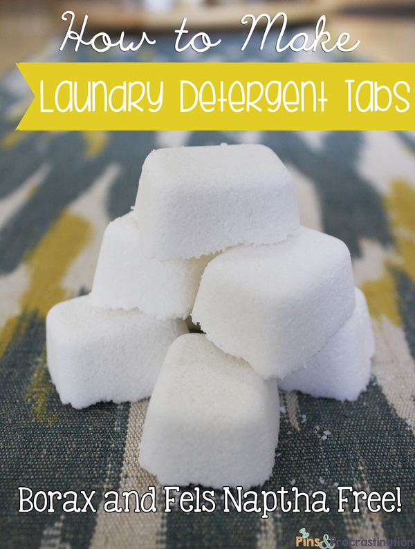 How to Make Homemade Laundry Detergent Tabs Without Borax or Fels Naptha
