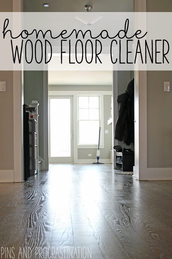 A clean home really starts with clean floors. If your floors don't feel clean, it's hard to feel like anything else is. I like to keep my cleaning routine as natural as possible, but a lot of homemade wood floor cleaners are very acidic, which can wear away the finish on the floor. I came up with a recipe that does a great job cleaning, will not damage your finish, and only costs 32 cents! Believe me when I say it does not disappoint.