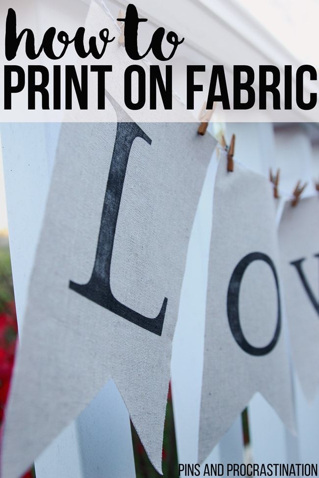 This blogger makes this craft seem so easy! I didn't realize how simple it was to print on fabric. It removes the mess and potential error from using stencils, and you have so much more flexibility in what you can make. It's perfect for wedding decorations, awesome DIY wall art, amazing printed photos, or for adding simple patterns to fabric to sew.Definitely going to use this easy craft tutorial!