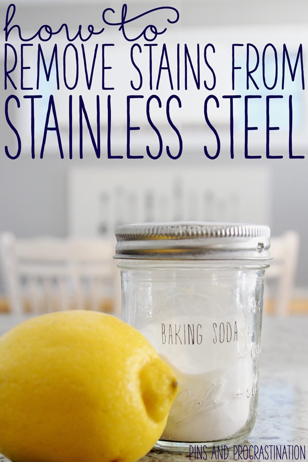I love having stainless steel appliances! But you would think that stainless steel would never actually stain... but it does! Leaving that pan soaking in your sink for too long can take its toll. I learned this the hard day, when one day I found a rust stain in my new sink. I've tried scrubbing it with dish soap, with all purpose cleaner, with granite cleaner, and just about everything in my arsenal. Until I finally found something that did the trick- and in under 10 seconds!