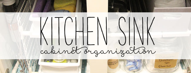 Kitchen Sink Cabinet Organization