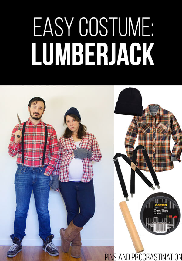 Easy Last Minute DIY Halloween Costume: Lumberjack