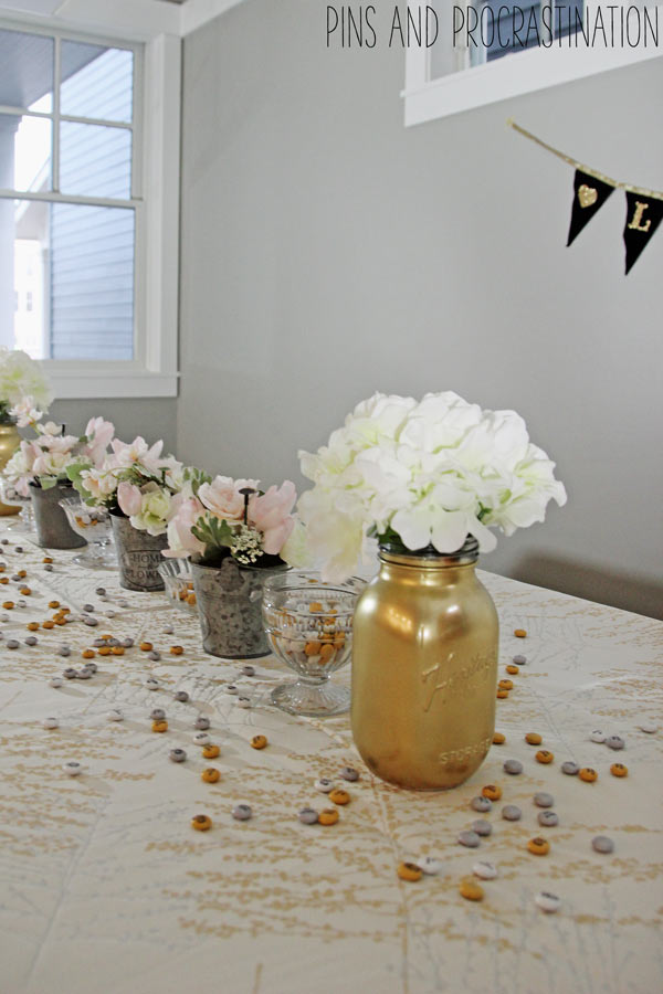 If you're celebrating an important anniversary this year- you'll want to check out these inspirational photos for anniversary party decoration. This gold and silver anniversary celebration has one special decoration- read to find out what!