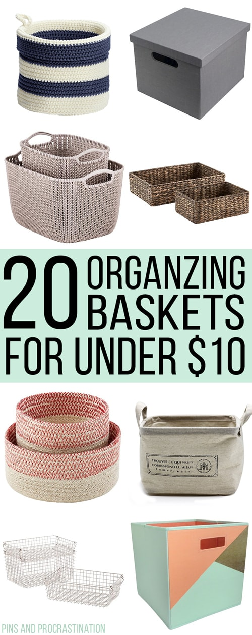 The secret to keeping my home organized is simple- lots of bins and baskets! I've acquired quite the collection of bins and baskets over the years.I've gotten good at spotting ones that are a good deal! So that's why I thought I would share these 20 awesome organizing bins and baskets are all adorable, and better yet, under $10 each!