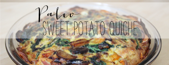 Paleo Sweet Potato Crust Quiche
