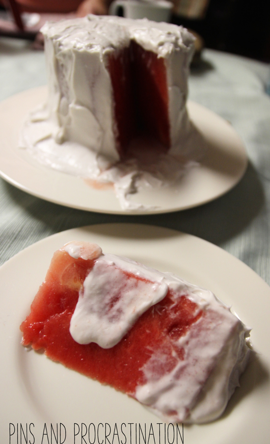 Paleo Watermelon Cake (Only 3 Ingredients, and no sweeteners!)