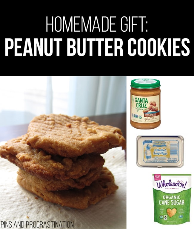 Picking out gifts can be so difficult. That's why I love homemade gifts- they're easy to customize and they feel so personal, and they save you money! So it's really a win-win. This list of homemade gift ideas is perfect! These homemade peanut butter cookies are a perfect gift.