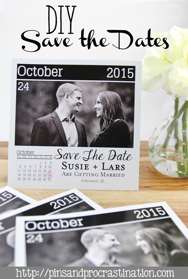 DIY Page a Day Calendar Save the Dates Pins and Procrastination