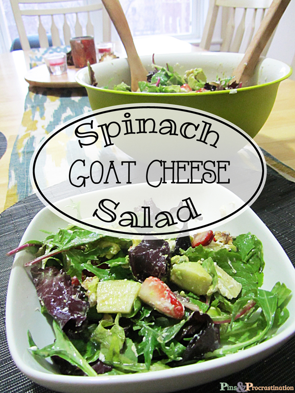 Spinach goat cheese salad