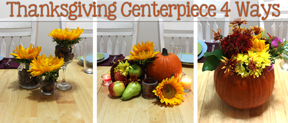 Thanksgiving Centerpiece 4 Ways
