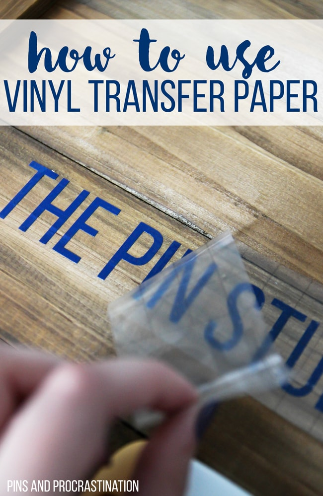 How To Use Vinyl Transfer Paper Vinyl Transfer Tape