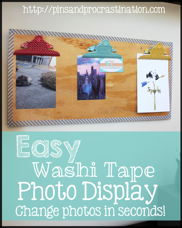 Easy Washi Tape Photo Display