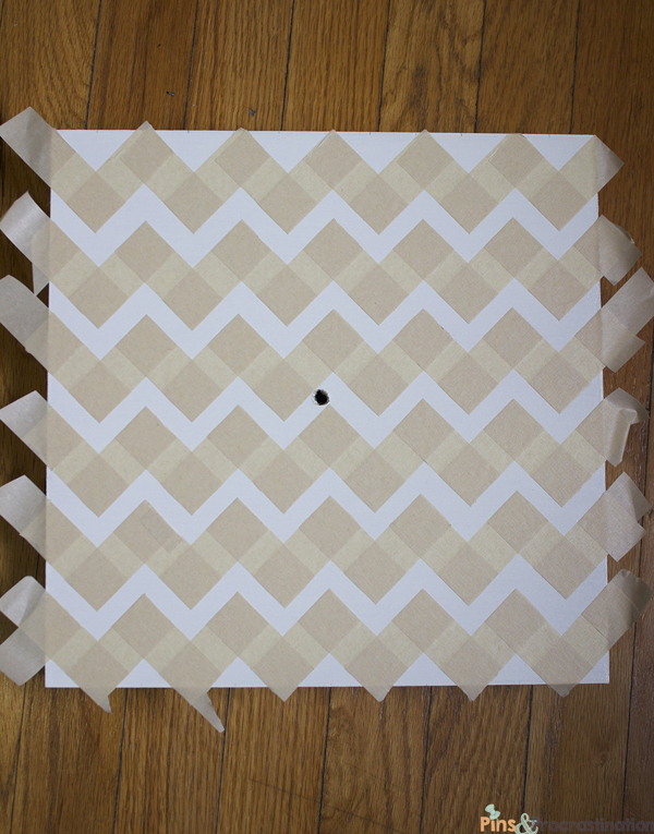 DIY knockoff west elm chevron wall clock