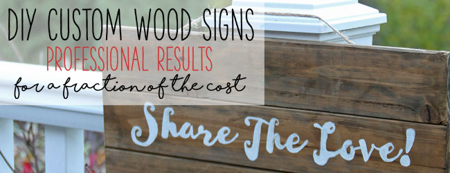 DIY Custom Wood Signs